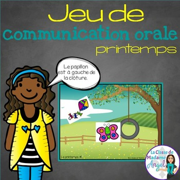 Jeu de communication orale: le printemps - Oral Communication Game in French