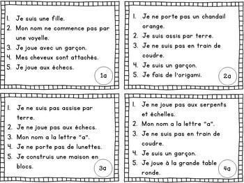 Jeu de comprehension de lecture La garderie// French reading game