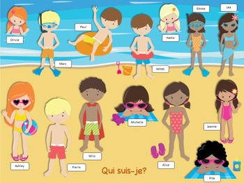 Jeu de comprehension de lecture plage// French reading game