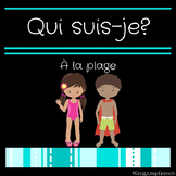 Qui suis-je? Comprehension de lecture plage// French reading game