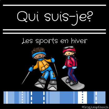 Jeu de comprehension de lecture sports en hiver// French reading game