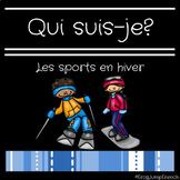 Qui suis-je? Comprehension de lecture sports en hiver// Fr