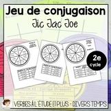 Jeu de conjugaison de verbe : Tic Tac Toe