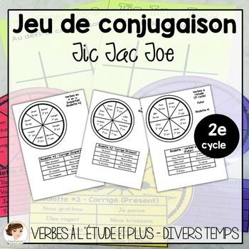 Jeu De Conjugaison De Verbe Tic Tac Toe By Plaisirs Du Primaire