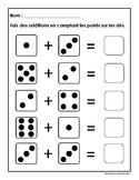 Jeu de dés (maternelle et jardin d'enfants)
