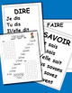 Jeu de l'escalier. French verb grammar game.