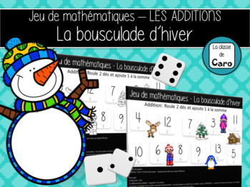 Jeu de mathématiques - L'ADDITION - La bousculade d'hiver  - (French-FSL)