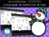 Jeu de math - L'ADDITION - La bousculade des bonhommes de neige  - (French-FSL)