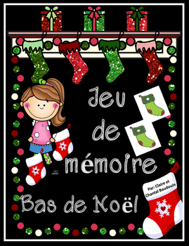Jeu de mémoire Bas de Noël
