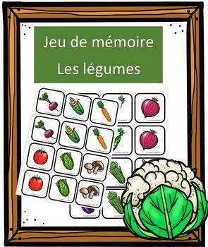 Jeu de mémoire - Les légumes