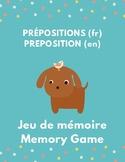 Jeu de mémoire Memory Game Image mots en français et anglais