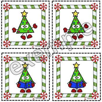 Jeu de mémoire de Noël (les sapins)