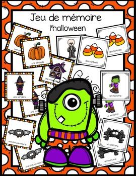 Jeu de mémoire - l'halloween