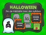 Jeu de mémoire de l'Halloween (SYLLABES)