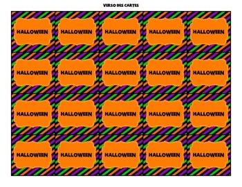 Jeu de mémoire de l'Halloween (memory)