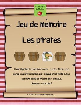 Jeu de mémoire sur le thème des pirates