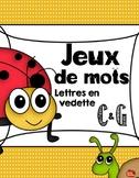 Jeu de mots: Lettres C et G