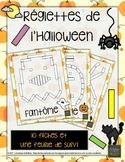 Jeu de réglettes de l'Halloween! (10 fiches)