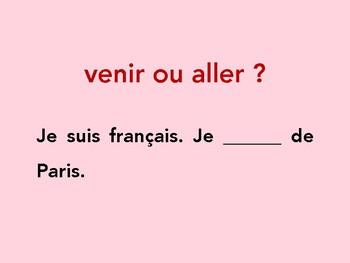 Jeu de révision, aller, venir, devenir, revenir, depuis, Discovering French