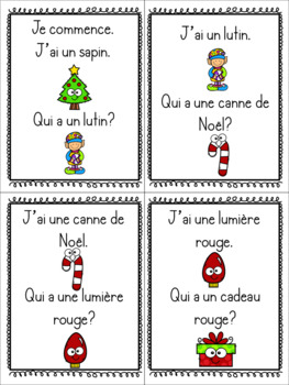 J'ai, qui a? / / / Jeu de vocabulaire Noël (FRENCH Christmas vocabulary game)