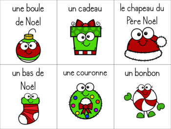 Mémoire / / / Jeu de vocabulaire Noël (FRENCH Christmas vocabulary game)