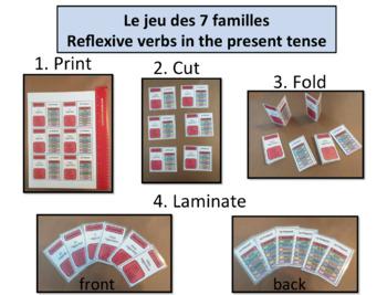 Jeu des 7 familles:Grammar/Conjugation Game: Reflexive Verbs Present Tense
