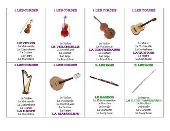 Jeu des 7 familles d'instruments