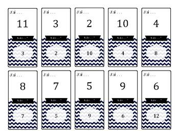 Jeu des cartes : Lire les nombres (-> 21)
