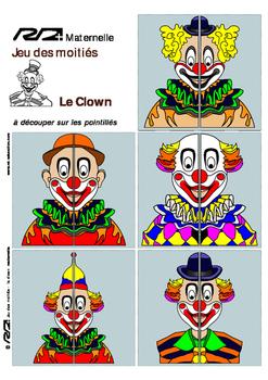 Jeu des moitiés - Clowns