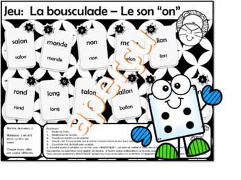 Jeux des sons « ou » et « on » La bousculade (French Bump it Game)
