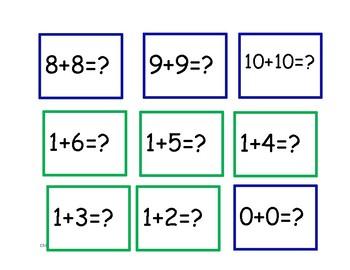 Jeu des tables d'addition +1 -1 +2 -2 double