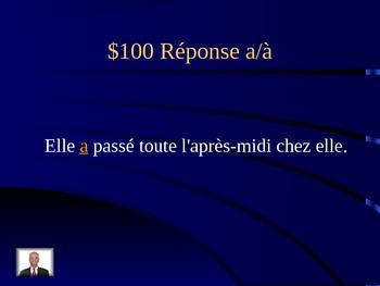 Jeu d'homophones Jeopardy-Joepardy Homophones game