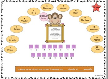 Jeu d'orthographe - French spelling game