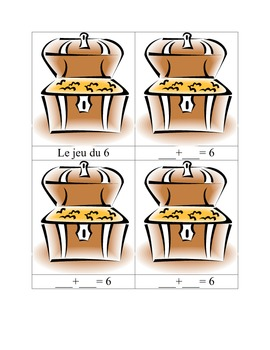 Jeu pour apprendre la table d'addition de 6 - Thème des pirates