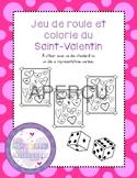 FRENCH Jeu roule et colorie - Saint-Valentin