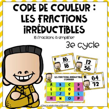 Jeu sur les fractions irréductibles 3e cycle // french math game fractions
