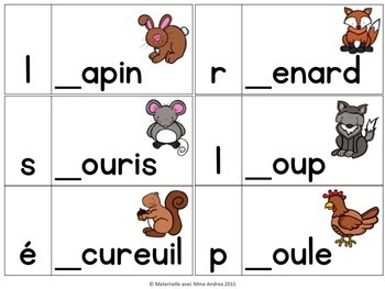 Jeu/Centre - Son initial (FRENCH Beginning Sounds Game/Literacy Centre)