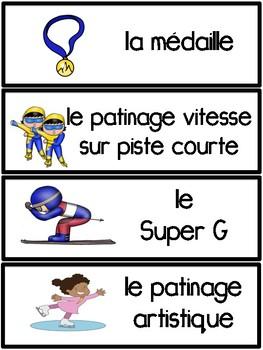 Jeux Olympiques D'Hiver Vocabulaire
