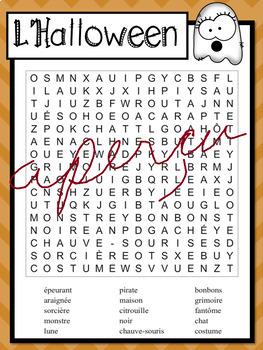 Jeux d'écriture - Écriture carée - HALLOWEEN
