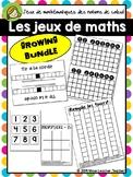 Jeux de Maths - French Numeracy math games Growing Bundle