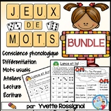 Jeux de Mots BUNDLE (French Phonics, Ateliers, Literacy Centres)
