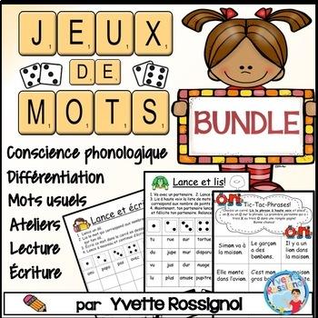 Jeux de Mots BUNDLE (French Phonics, Ateliers, Literacy Centres)
