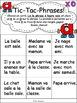 """Jeux de Mots (Le son """"a"""") Ateliers, No Prep, French Phonic"""