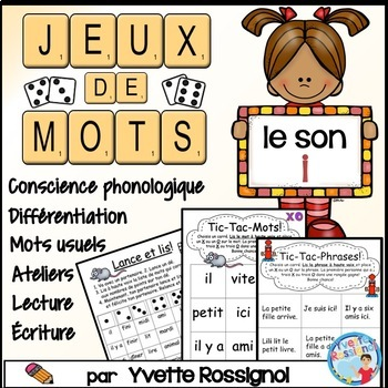 "Jeux de Mots (Le son ""i"") Ateliers, No Prep, French Phonics, French immersion)"