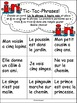 """Jeux de Mots (Le son """"in"""") Ateliers, No Prep, French Phonics, French immersion)"""