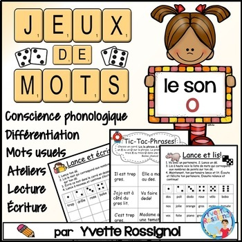 "Jeux de Mots (Le son ""o"") Ateliers, No Prep, French Phonics, French immersion)"
