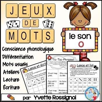 """Jeux de Mots (Le son """"o"""") Ateliers, No Prep, French Phonic"""