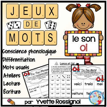"Jeux de Mots (Le son ""oi"") Ateliers, No Prep, French Phoni"