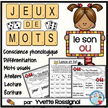 JEUX DE MOTS FRÉQUENTS POUR LE SON OU - FRENCH PHONICS GAMES WITH SIGHT WORDS