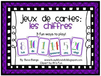 {Jeux de cartes: Les chiffres!} Card games for practicing French vocabulary